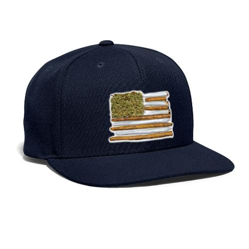 American Flag With Joint - Snapback Baseball Cap