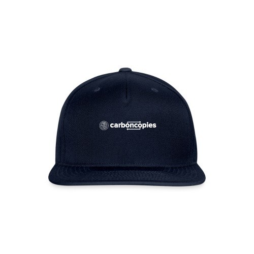 Carboncopies Text + Graphic Logo (white printing) - Snapback Baseball Cap