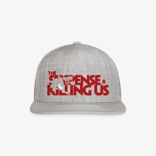 Suspsense Is Killing Us Blood Red Logo - Snapback Baseball Cap