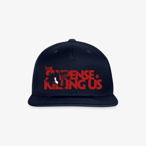 Suspsense Is Killing Us Blood Red Logo - Snapback Baseball Cap