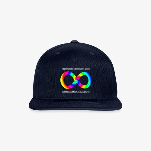 Embrace Neurodiversity with Swirl Rainbow - Snap-back Baseball Cap