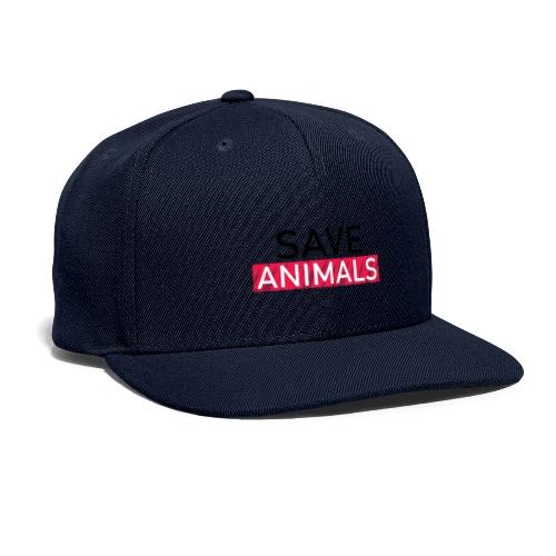 SAVE ANIMALS - Snapback Baseball Cap