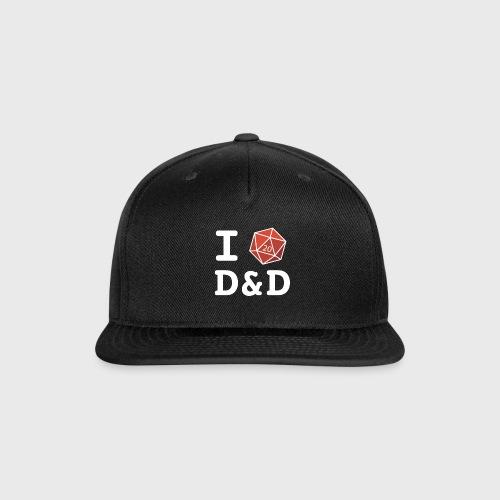 I DICE D&D - Snap-back Baseball Cap