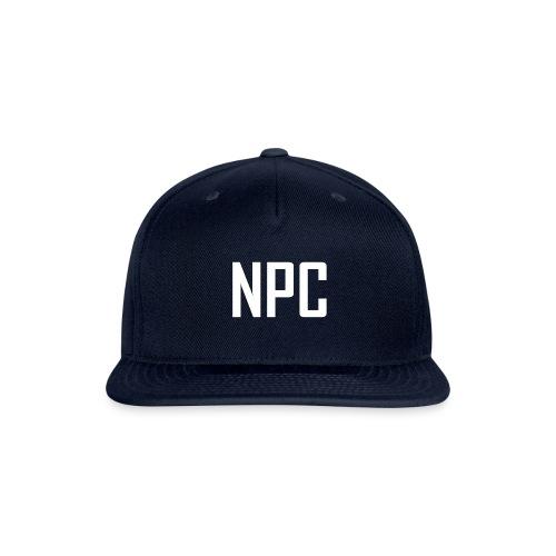 N P C logo in white - Snapback Baseball Cap