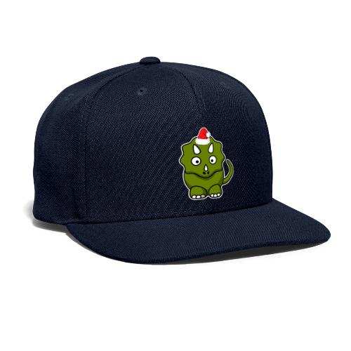 Happy Holidays Triceratops - Snapback Baseball Cap