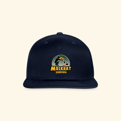 Muskrat round logo - Snapback Baseball Cap