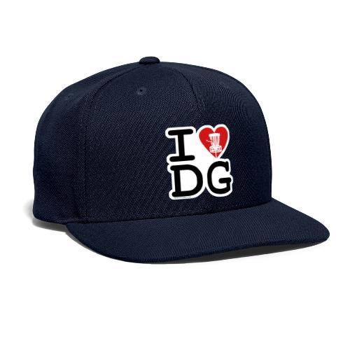 I Love (Heart) Disc Golf Shirt & Accessories - Snapback Baseball Cap