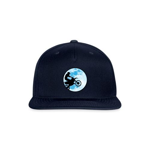 Motocross Motorcycle Blue Moon - Snapback Baseball Cap