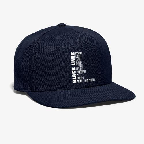 Black Lives More Than Matter - Snapback Baseball Cap