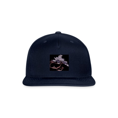 Whales swimming through pollution - Snapback Baseball Cap