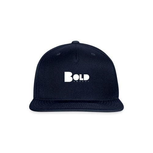 BOLD logo white 1 - Snapback Baseball Cap