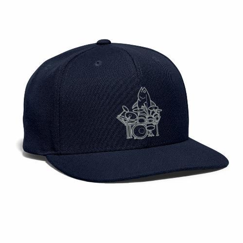 fishsolooutline - Snapback Baseball Cap