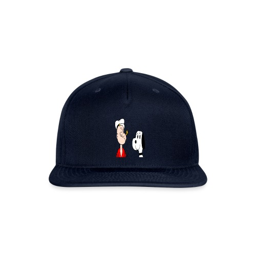 snoopy casper popeye cartoon snoopy - Snap-back Baseball Cap