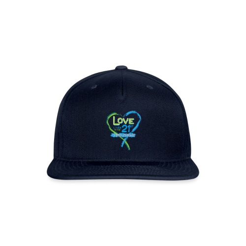 Down Syndrome Love (Blue) - Snap-back Baseball Cap