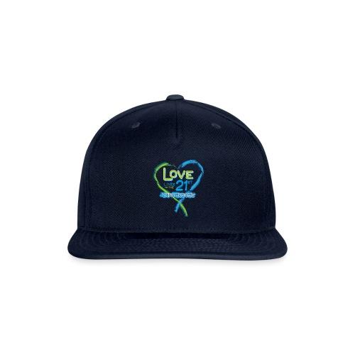 Down Syndrome Love (Blue) - Snapback Baseball Cap