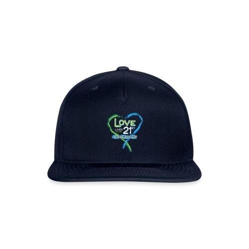Down Syndrome Love (Blue/White) - Snap-back Baseball Cap