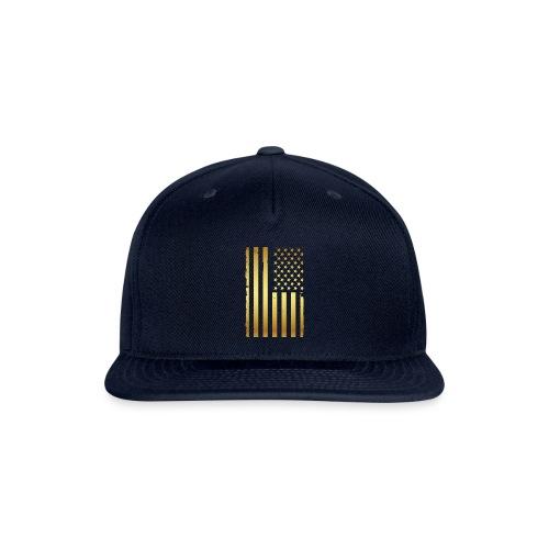 Golden american flag - Snapback Baseball Cap