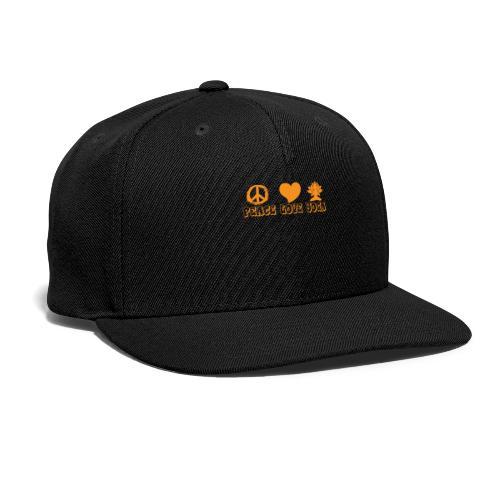 Peace Love Yoga - Snapback Baseball Cap