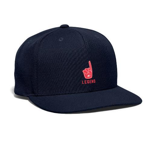 Number 1 Legend - Snapback Baseball Cap
