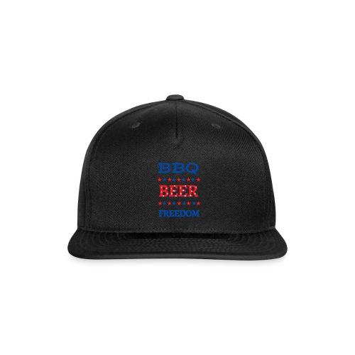 BBQ BEER FREEDOM - Snapback Baseball Cap