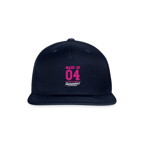 Made In 2004 Awesome 13th Birthday - Snapback Baseball Cap