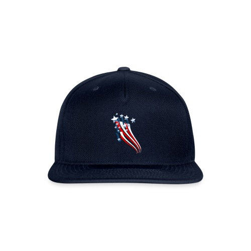 Sweeping American Flag - Snap-back Baseball Cap