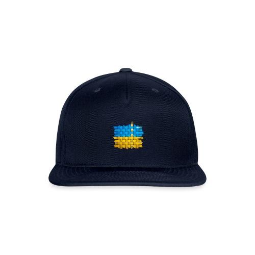 Weave Ukrainian flag - Snap-back Baseball Cap