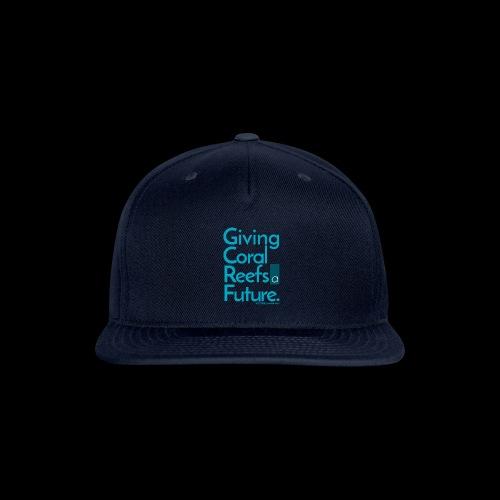 Giving Coral Reefs a Future (blue) - Snapback Baseball Cap