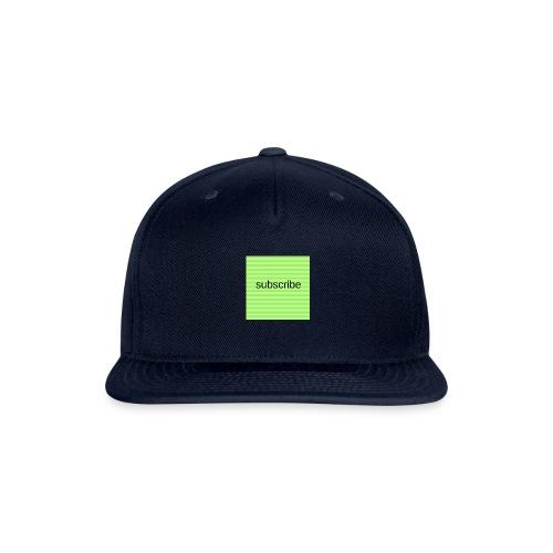 subscribe - Snapback Baseball Cap
