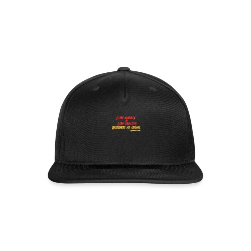 Low ammo & Low health + Logo - Snapback Baseball Cap