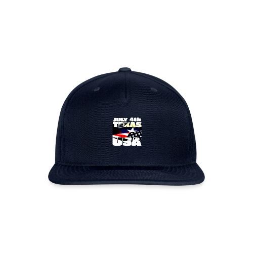 July 4th Texas USA - Snap-back Baseball Cap