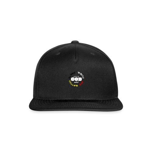 Power by GOD (Black, White, Yellow, Red) - Snapback Baseball Cap