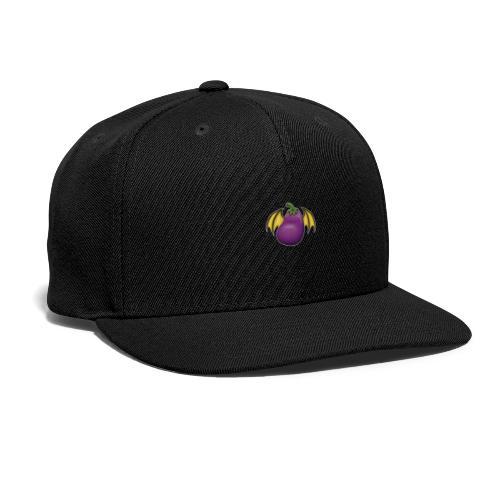Eggplant Logo With White Outline - Snapback Baseball Cap