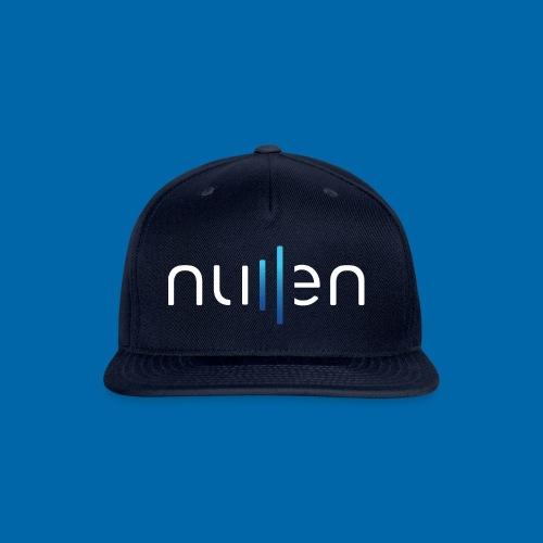 White + Blue Gradient Logo - Snap-back Baseball Cap