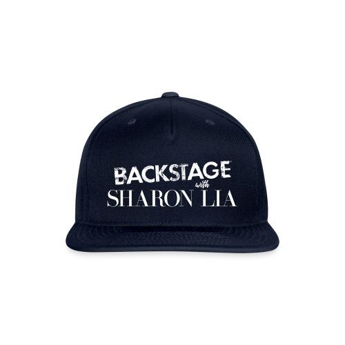 Backstage With Sharon Lia - White - Snap-back Baseball Cap
