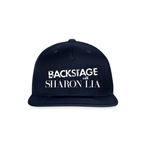 Backstage With Sharon Lia - White - Snapback Baseball Cap