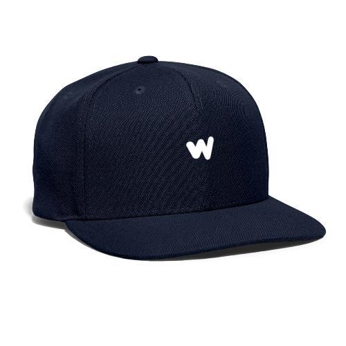 white w Small 8x - Snapback Baseball Cap