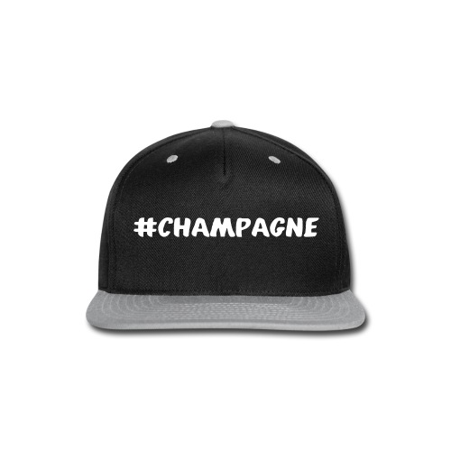 Champagne Hashtag - Snap-back Baseball Cap