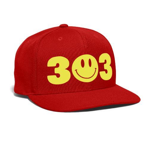 3 Smiley 3 - Snap-back Baseball Cap