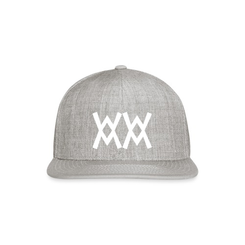 WWMM white logo tiny - Snap-back Baseball Cap