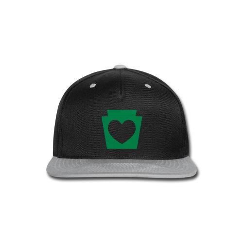 Love/Heart PA Keystone - Snap-back Baseball Cap
