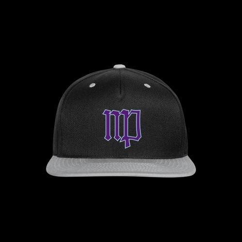 Virgo Sign In Blue & Purple - Snap-back Baseball Cap