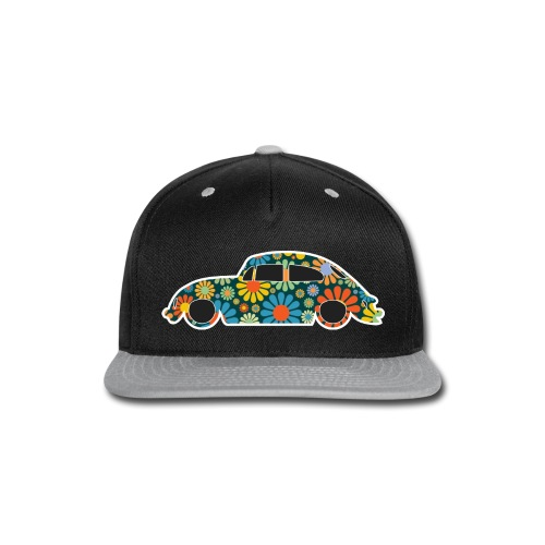 Beetle Car Flower Power - Snap-back Baseball Cap