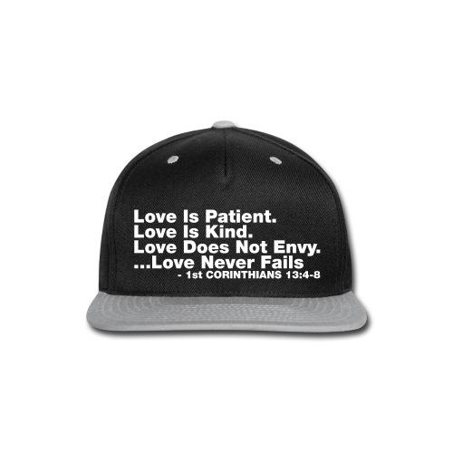 Love Bible Verse - Snap-back Baseball Cap