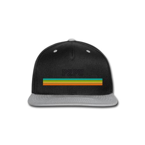 striped mug black logo png - Snap-back Baseball Cap