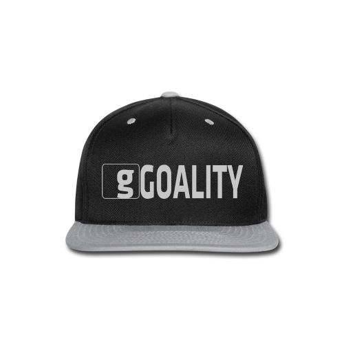 Goality Logo Grey - Snap-back Baseball Cap