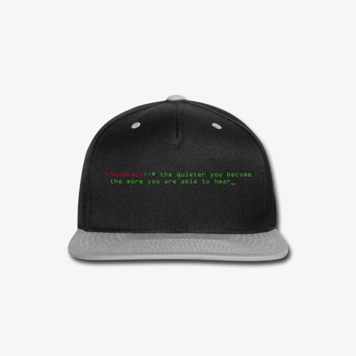Kali Terminal Slogan - Snap-back Baseball Cap