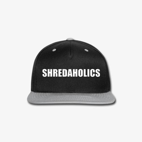 SHREDAHOLICS White - Snap-back Baseball Cap
