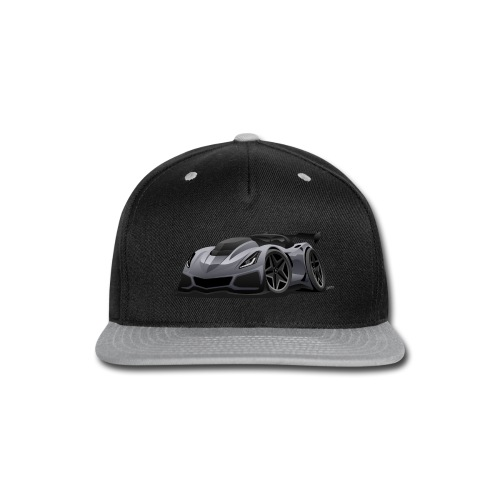 Modern American Sports Car Cartoon - Snap-back Baseball Cap