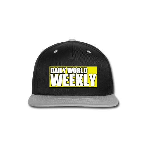 daily world weekly banner short - Snap-back Baseball Cap